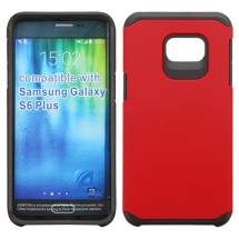 Asmyna Advanced Armor Case for Samsung Galaxy S6 Edge+ (Red & Black) (Closeout)
