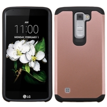 Advanced Armor Case for LG K8, K7 (Rose Gold & Black) (Closeout)