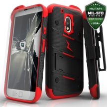 Zizo Bolt Case with Stand for Motorola Moto G Play (Black & Red) (Closeout)