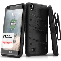 Zizo Bolt Case with Stand for LG X Power (Black) (Closeout)