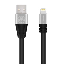 Naztech HyperGear 6ft Flexi MFi Lightning Charge & Sync Cable (Black)