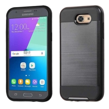 Asmyna Brushed Hybrid Case for Samsung Galaxy J3 (2017) (Black) (Closeout)
