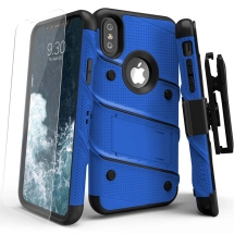 Zizo Bolt Case with Stand for Apple iPhone X & XS (Blue & Black)