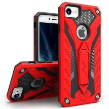 Zizo Static Hybrid Case for Apple iPhone 6, 6S, 7, 8, & SE (2nd Gen) (Red & Black)