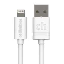 Cellhelmet Round 10ft Lightning Data & Charge Cable (White)