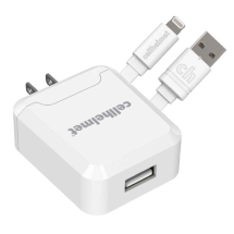 Cellhelmet 2.1 Amp Wall Charger & Round 3ft Lightning Cable (White)