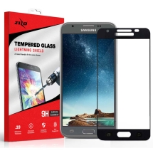 Zizo Tempered Glass Screen Protector for Samsung Galaxy J3 (2017) (Black) (Closeout)