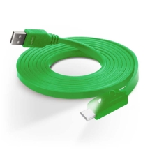 Naztech 6ft Lighted USB C Charge & Sync Cable (Green) (Closeout)