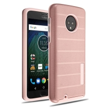 MYBAT Advanced Armor Textured Case for Motorola Moto G6 (Rose Gold Dots) (Closeout)