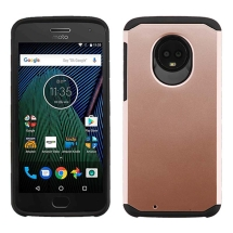 Advanced Armor Case for Motorola Moto G6 (Rose Gold & Black) (Closeout)