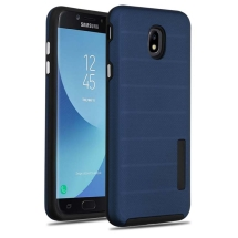 MYBAT Textured Fusion Case for Samsung Galaxy J7 (2018) (Ink Blue & Black) (Closeout)