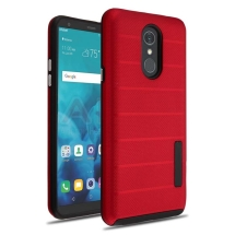MYBAT Advanced Armor Textured Case for LG Stylo 4 (Red Dots & Black)