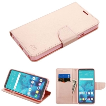 MYBAT Wallet Case with Tray for LG Stylo 4 (Rose Gold) (Closeout)