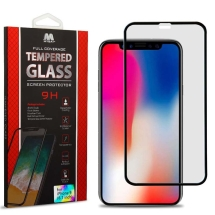 MYBAT Tempered Glass Screen Protector for Apple iPhone XR & 11 (Black)