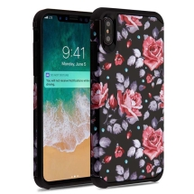 Asmyna Advanced Armor Case for Apple iPhone XS Max (Roses & Black)