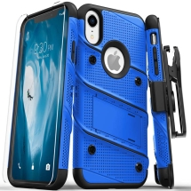 Zizo Bolt Case with Stand for Apple iPhone XR (Blue & Black)