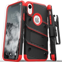 Zizo Bolt Case with Stand for Apple iPhone XR (Black & Red)