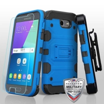 MYBAT Storm Tank Hybrid Case for Samsung Galaxy J3 (2017) (Blue & Black) (Closeout)