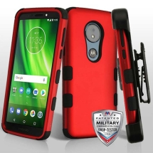 MYBAT TUFF Hybrid Case with Holster for Motorola Moto G6 Play (Red & Black) (Closeout)