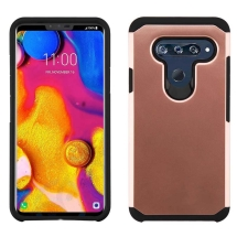 Asmyna Advanced Armor Case for LG V40 ThinQ (Rose Gold & Black) (Closeout)