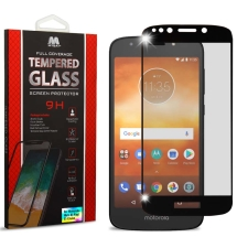 MYBAT Full Coverage Tempered Glass Screen Protector for Motorola Moto E5 Play (Black Border) (Closeout)