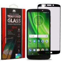 MYBAT Full Coverage Tempered Glass Screen Protector for Motorola Moto G6 Play (Black) (Closeout)
