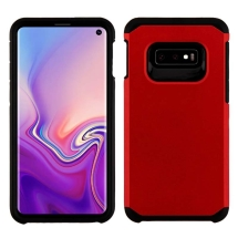 Asmyna Advanced Armor Case for Samsung Galaxy S10e (Red & Black) (Closeout)