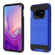 Asmyna Brushed Hybrid Case for Samsung Galaxy S10e (Dark Blue & Black) (Closeout)