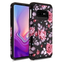 Asmyna Brushed Hybrid Case for Samsung Galaxy S10e (Roses & Black) (Closeout)