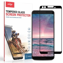 Zizo Full Coverage Tempered Glass Screen Protector for Google Pixel 3 (Black Border) (Closeout)