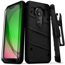 Zizo Bolt Case with Stand for Motorola Moto G7 Play (Black)