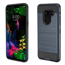 Brushed 2 Piece Hybrid Case for LG G8 ThinQ (Ink Blue & Black)