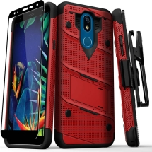 Zizo Bolt Case with Stand for LG K40 (Red & Black)