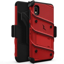 Zizo Bolt Case with Stand for Samsung Galaxy A10e (Red & Black)