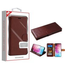 MYBAT Element Wallet Case for Samsung Galaxy Note 10+ (Brown) (Closeout)