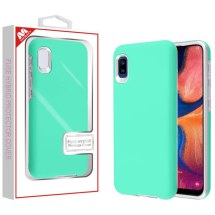 MYBAT Fuse Hybrid Case for Samsung Galaxy A10e (Teal Green & Silver)