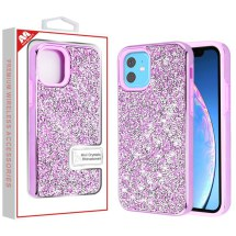 MYBAT Electroplated Hybrid Case for Apple iPhone 11 (Purple Rhinestones)