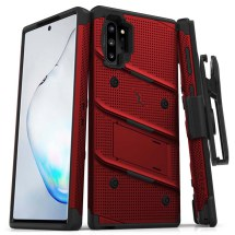 Zizo Bolt Case with Stand for Samsung Galaxy Note 10+ (Red & Black)