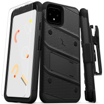 Zizo Bolt Case with Stand for Google Pixel 4 (Black)