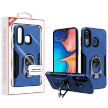 MYBAT Anti-Drop Hybrid Case with Ring Stand Bottle Opener for Samsung Galaxy A20 (Ink Blue & Black)