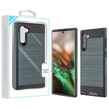 Brushed 2 Piece Hybrid Case for Samsung Galaxy Note 10 (Ink Blue & Black)
