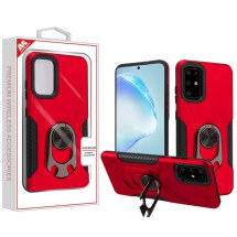MYBAT Anti-Drop Hybrid Case with Ring Stand Bottle Opener for Samsung Galaxy S20+ (Red & Black)