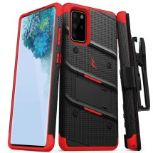 Zizo Bolt Case for Samsung Galaxy S20+ (Black & Red) (Closeout)