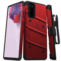Zizo Bolt Case for Samsung Galaxy S20 (Red & Black)